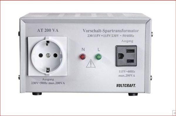 VOLTCRAFT AT-200 VA Vorschalt-Transformator - Altomünster - VOLTCRAFT AT-200 NV Vorschalt-Transformator, Spannungswandler, 115/230 V/AC / 230/115 V/AC / 200 Wincl. Netzanschlusskabel - Bedienungsanleitung.Vorschalt-Transformator zum Betrieb von US-amerikanischen Geräten am 230 V-Netz, bzw. von 230  - Altomünster