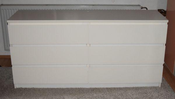 ikea malm kommode weiss gebraucht kaufen nur 2 st bis 75 g nstiger. Black Bedroom Furniture Sets. Home Design Ideas