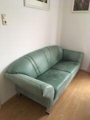 Sofa Couch echtleder grün