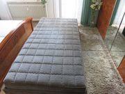 Stoff Polsterbett 100x200x50 cm
