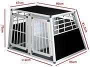 Hundetransportbox - Doppelbox für große Hunde