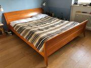Massivholz-Bett 180x220