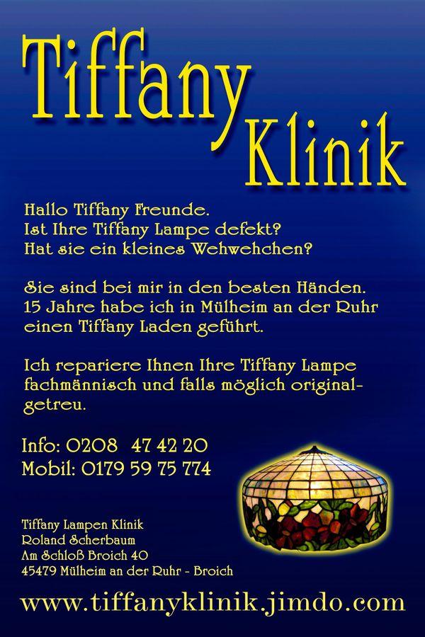 Tiffany Lampen Reparatur Frankfurt Bleiverglasung