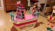 Barbie Schiff mit viel Zubehör