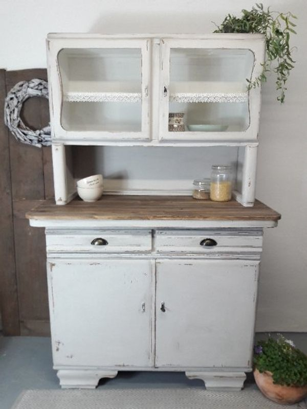 Schrank Küchenschrank Buffet Anrichte Shabby Chic Landhaus Antik in ...
