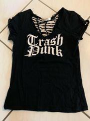 Shirt schwarz mit Aufdruck
