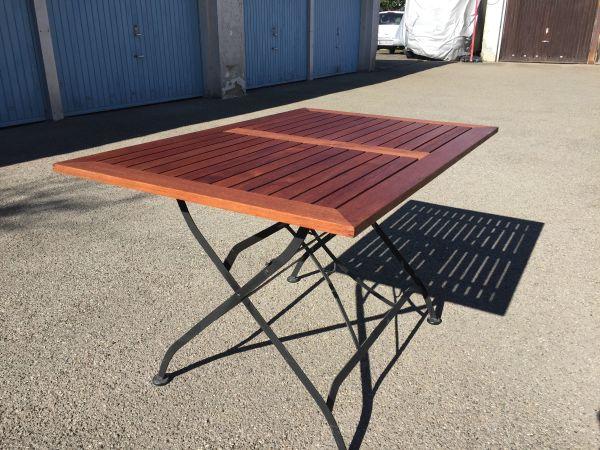 Gartenmöbel Set Holz Klappbar ~ Terrassenmöbel tisch stuhl stühle teak holz metall