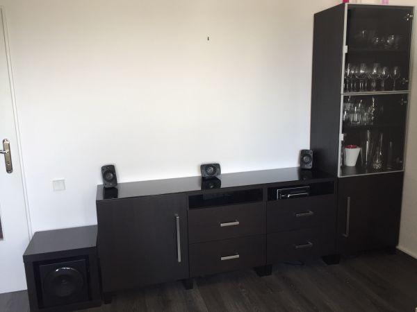 Gut Ikea Besta Wohnwand Sideboard Wohnzimmerschrank