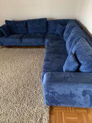 Eckcouch 2 85mx2 65m blau