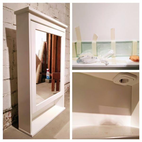 Hemnes Bad aufgemotzter ikea hemnes spiegelschrank integrierte steckdose