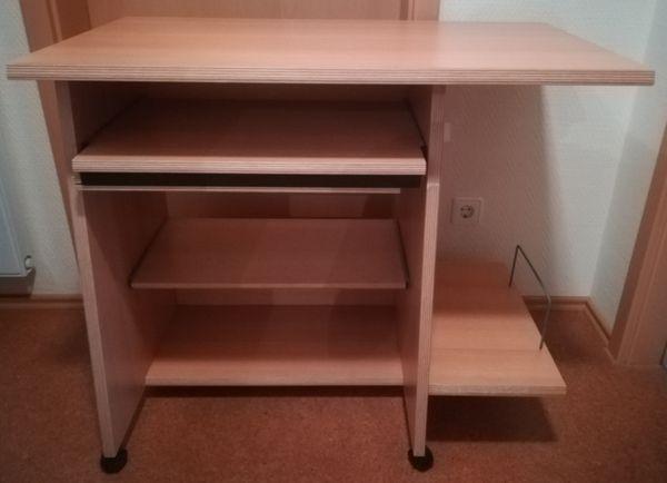 Computer Schreibtisch in Buche