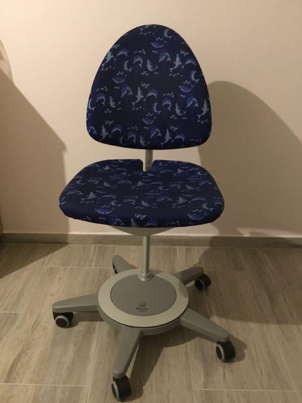 Moll Maximo Forte Schreibtisch Stuhl Mit Delphin Muster Farbe Blau