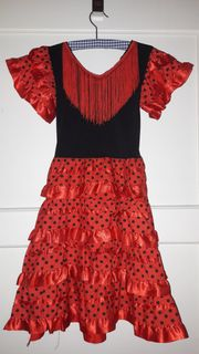 Flamenco-Kleid (rot,