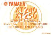Bedienungsanleitung Yamaha XT