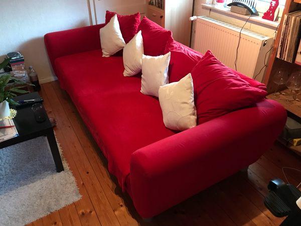 Rote Couch Sofa In Pfinztal Polster Sessel Couch Kaufen Und