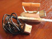 Kinderbügeleisen antik elektrisch funktioniert gut