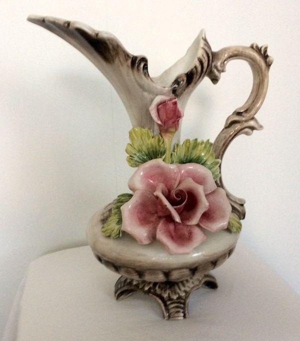 Große Blumenvase große keramik vase blumen capodimonte krug porzellan italien