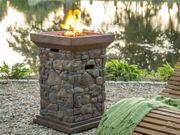 Feuerstelle braun Leichtbeton rechteckig CRATER