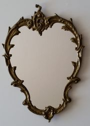 Wandspiegel Messing oval