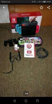Nintendo Switch mit 7 Spielen