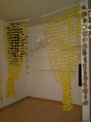 Blumen-Vorhang Gardinen-