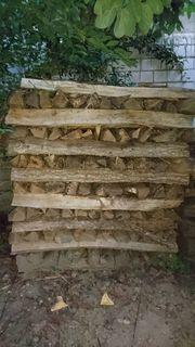 Brennholz Eiche Stammholz trocken und