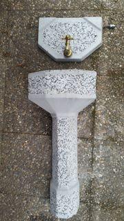 Brunnen Wandbrunnen Stein