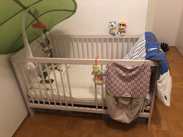 Paidi Mees Kinderbett Weiss Mit Schlupfsprossen Und Umbauseiten In