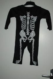 Skelett-Kostüm Gr 98 104 guter