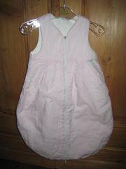 Schlafsack rosa weiß karriert Gr