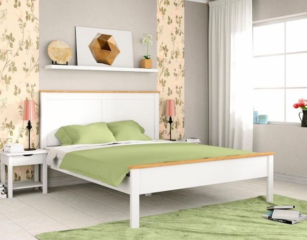 Neu Home Affaire Doppel Bett 180x200 Weiss Massiv Holz Bettgestell In