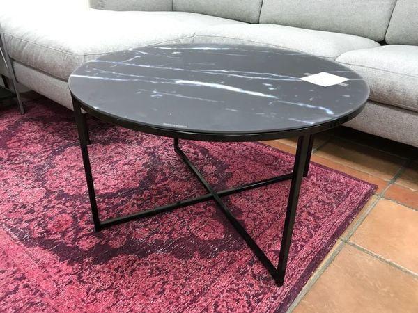 Glastisch schwarz rund  Couchtisch ANTIGUA Rund/Schwarz nur 89,-EUR Restposten Glastisch in ...