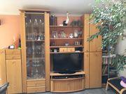 Wohnzimmerschrank, Schrankwand, Erle