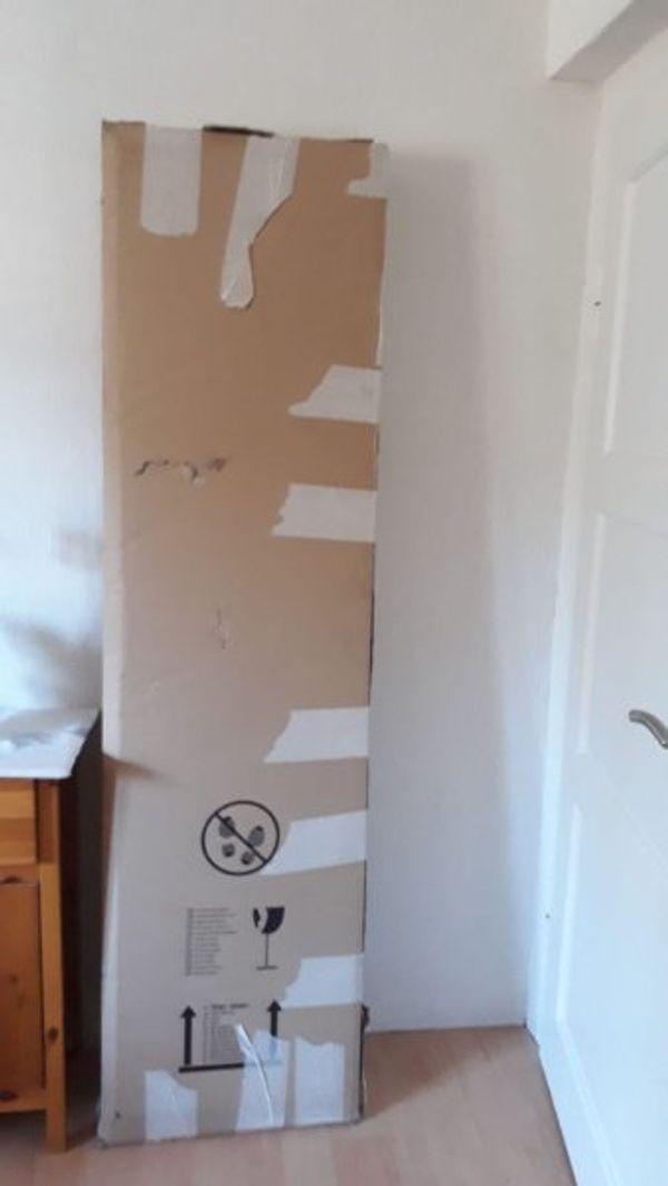 Lowboard - Schwabach - Lowboard in Beton Optik, Türen mit Glaseinsatz. Maße B/T/H182/39/60,5 cm. - Schwabach