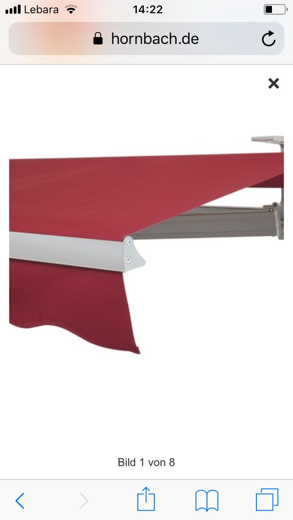 markise 6 meter breit finest moderne elektrische gnstige. Black Bedroom Furniture Sets. Home Design Ideas