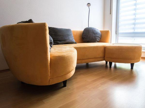 Sofa Rundecke | Couch Rundecke Mit Hocker Bezug Alcatex In Rohrmoos Polster