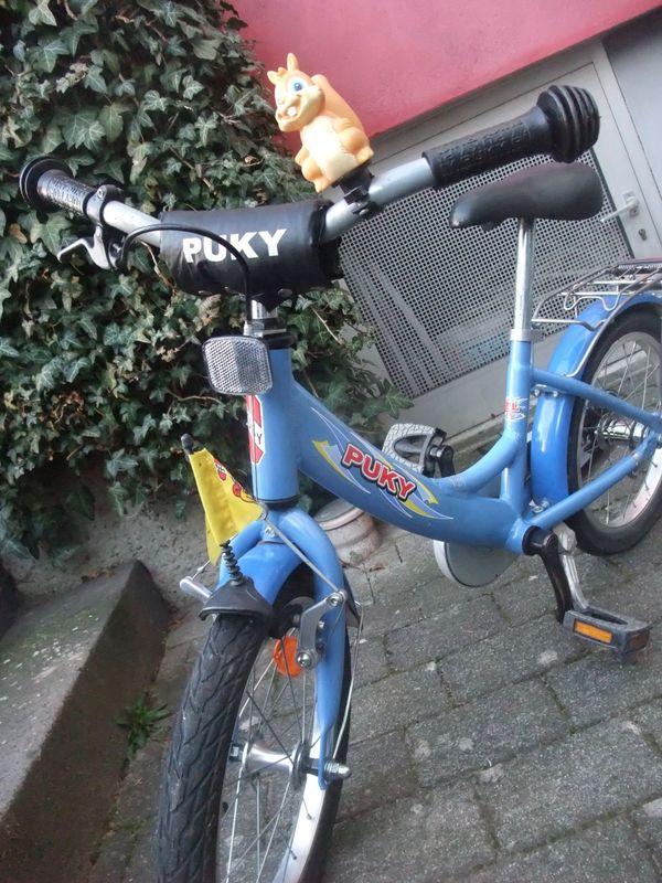 """Pucky Kinderfahrrad 16"""" - Darmstadt Bessungen - Wir verkaufen unser Pucky Kinderfahrrad 16"""" - mit Rücktritt, ohne Gangschaltung.Das Fahrrad ist aus 1. Hand, wurde von unseren 2 Kindern gefahren und weist übliche Gebrauchsspuren auf - siehe Fotos. - Darmstadt Bessungen"""