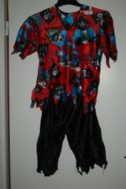 Piraten-Kostüm 2-teilig Gr 140 guter