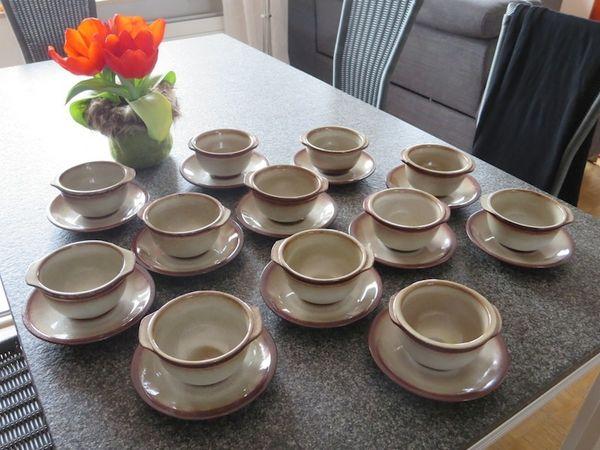 Steinzeug Geschirr suppentassen mit untertassen 6 oder 12 st ceramano steinzeug