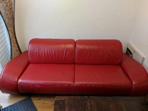 Leder Couch Musterring Rot In Stuttgart Polster Sessel Couch