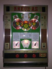 Geldspielautomat Kreuz As
