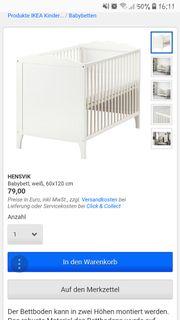 Ikea babybett hensvik
