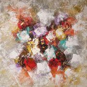 Gemälde Abstrakte Kunst Acrylfarben 100x100cm