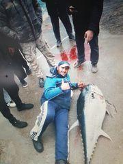 Thunfisch angeln und Baden in