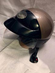 Motorradjacke Helm und Stiefel