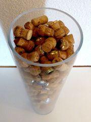 Deko-Glas mit Sektkorken