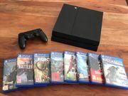 PS4 8 Spiele und Controller