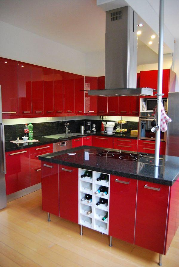 Ikea Küche Hochglanz Rot Granit Arbeitsplatte