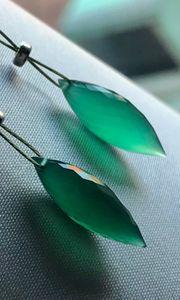 Ohrringe aus grünem Onyx NEU