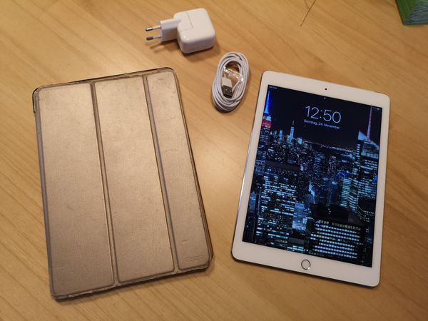 Apple Ipad Air 2 128gb 4g Lte Cellular Wifi Weiß Gold Top Zustand